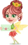Cute Fairy Vector Cartoon Character AKA Frida the Flower Fairy - Letter