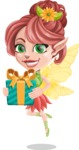 Cute Fairy Vector Cartoon Character AKA Frida the Flower Fairy - Gift