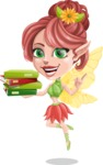 Cute Fairy Vector Cartoon Character AKA Frida the Flower Fairy - Book 2