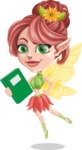 Cute Fairy Vector Cartoon Character AKA Frida the Flower Fairy - Book 3