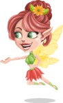 Cute Fairy Vector Cartoon Character AKA Frida the Flower Fairy - Showcase