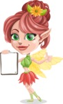 Cute Fairy Vector Cartoon Character AKA Frida the Flower Fairy - Notepad 1