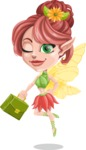 Cute Fairy Vector Cartoon Character AKA Frida the Flower Fairy - Briefcase 1