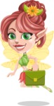 Cute Fairy Vector Cartoon Character AKA Frida the Flower Fairy - Briefcase 2