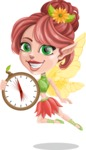 Cute Fairy Vector Cartoon Character AKA Frida the Flower Fairy - Time is Yours