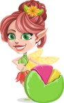 Cute Fairy Vector Cartoon Character AKA Frida the Flower Fairy - Chart