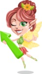 Cute Fairy Vector Cartoon Character AKA Frida the Flower Fairy - Pointer 1