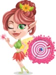 Cute Fairy Vector Cartoon Character AKA Frida the Flower Fairy - Target