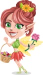 Cute Fairy Vector Cartoon Character AKA Frida the Flower Fairy - Basket 2