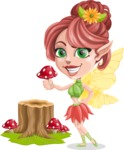 Cute Fairy Vector Cartoon Character AKA Frida the Flower Fairy - Trunk 2