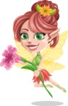 Cute Fairy Vector Cartoon Character AKA Frida the Flower Fairy - Flower 3