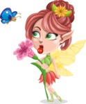 Cute Fairy Vector Cartoon Character AKA Frida the Flower Fairy - Flower 4