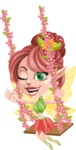 Cute Fairy Vector Cartoon Character AKA Frida the Flower Fairy - Swing 2