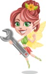 Cute Fairy Vector Cartoon Character AKA Frida the Flower Fairy - Repair