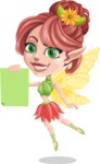 Cute Fairy Vector Cartoon Character AKA Frida the Flower Fairy - Sign 2
