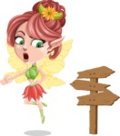 Cute Fairy Vector Cartoon Character AKA Frida the Flower Fairy - Crossroad
