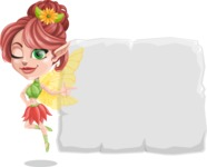Cute Fairy Vector Cartoon Character AKA Frida the Flower Fairy - Presentation 1