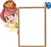 Cute Fairy Vector Cartoon Character AKA Frida the Flower Fairy - Presentation 3
