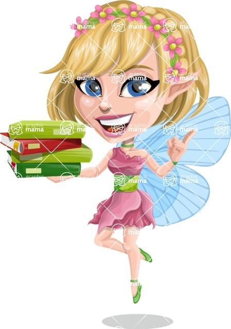 Vector Fairy Female Cartoon Character - Tally The Playful
