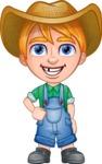 Little Farm Kid Cartoon Vector Character AKA Curtis the Farm's Menace - Normal