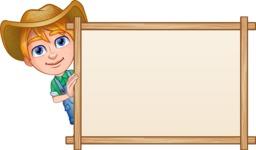Little Farm Kid Cartoon Vector Character AKA Curtis the Farm's Menace - Presentation 6