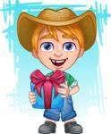 Little Farm Kid Cartoon Vector Character AKA Curtis the Farm's Menace - Shape 11