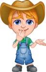 Little Farm Kid Cartoon Vector Character AKA Curtis the Farm's Menace - Sorry