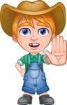 Little Farm Kid Cartoon Vector Character AKA Curtis the Farm's Menace - Stop 2