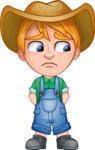 Little Farm Kid Cartoon Vector Character AKA Curtis the Farm's Menace - Sad 2