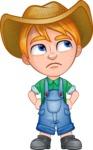 Little Farm Kid Cartoon Vector Character AKA Curtis the Farm's Menace - Roll Eyes
