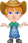 Little Farm Kid Cartoon Vector Character AKA Curtis the Farm's Menace - Lost