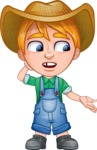 Little Farm Kid Cartoon Vector Character AKA Curtis the Farm's Menace - Lost 2