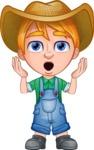 Little Farm Kid Cartoon Vector Character AKA Curtis the Farm's Menace - Oops
