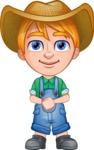 Little Farm Kid Cartoon Vector Character AKA Curtis the Farm's Menace - Patient