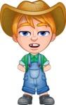 Little Farm Kid Cartoon Vector Character AKA Curtis the Farm's Menace - Bored