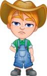 Little Farm Kid Cartoon Vector Character AKA Curtis the Farm's Menace - Bored2