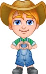 Little Farm Kid Cartoon Vector Character AKA Curtis the Farm's Menace - Show Love
