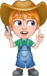 Little Farm Kid Cartoon Vector Character AKA Curtis the Farm's Menace - Support