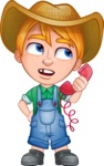 Little Farm Kid Cartoon Vector Character AKA Curtis the Farm's Menace - Support 3