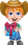 Little Farm Kid Cartoon Vector Character AKA Curtis the Farm's Menace - Gift
