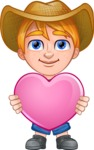 Little Farm Kid Cartoon Vector Character AKA Curtis the Farm's Menace - Love