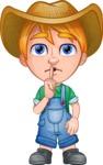 Little Farm Kid Cartoon Vector Character AKA Curtis the Farm's Menace - Silence