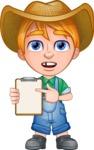 Little Farm Kid Cartoon Vector Character AKA Curtis the Farm's Menace - Note 1