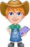 Little Farm Kid Cartoon Vector Character AKA Curtis the Farm's Menace - Note 2