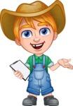 Little Farm Kid Cartoon Vector Character AKA Curtis the Farm's Menace - Note 3