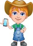Little Farm Kid Cartoon Vector Character AKA Curtis the Farm's Menace - iPhone