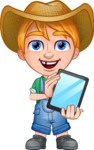 Little Farm Kid Cartoon Vector Character AKA Curtis the Farm's Menace - iPad 1