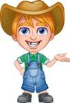 Little Farm Kid Cartoon Vector Character AKA Curtis the Farm's Menace - Showcase
