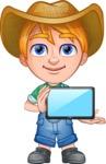 Little Farm Kid Cartoon Vector Character AKA Curtis the Farm's Menace - iPad 2