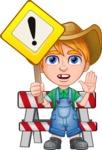 Little Farm Kid Cartoon Vector Character AKA Curtis the Farm's Menace - Under Construction